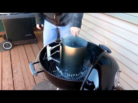 My first test of the Weber Barbeque RapidFire Chimney Starter