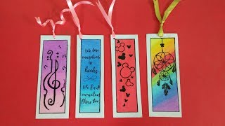 DIY BOOKMARK'S With Oil Pastels || Easy Bookmark Tutorial with Oil Pastels||