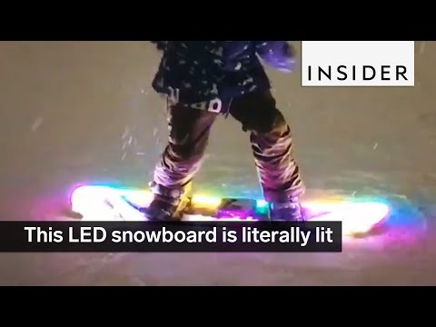 This LED snowboard is literally lit