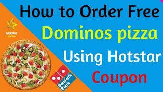 How to buy dominos pizza using Hotstar coupon