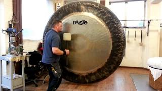 """Paiste - 80"""" Symphonic Gong played by Paiste Gong Master Sven"""