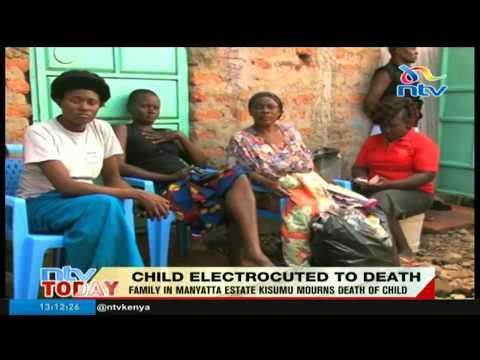, title : 'Family in Manyatta estate, Kisumu mourn death of child'