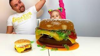 ГИГАНТСКИЙ  Бургер 10 кг из Желе DIY Как Сделать своими руками МЕГА БОЛЬШОЙ БУРГЕР MEGA BIG BURGER