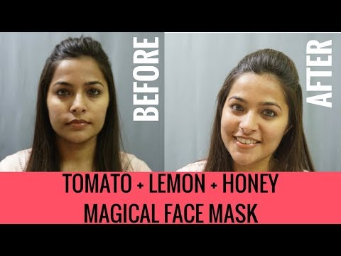 Tomato Lemon Honey for Skin Care | Skin Brightening Face Mask | DIY Homemade Natural Skin Care