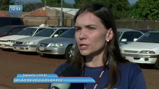Leilão de veículos acontece em Foz do Iguaçu