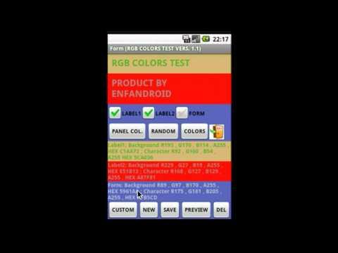 Video of COLORS RGB HEX PANTONE  PRO