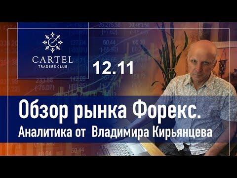 💹 Обзор рынка форекс. Аналитика от Владимира Кирьянцева. 12.11