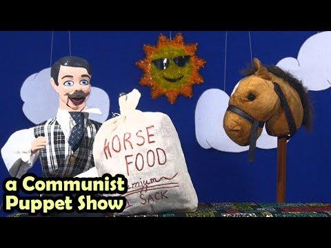 Glue the Horse Gets a Job (and Awakens to Class Consciousness)