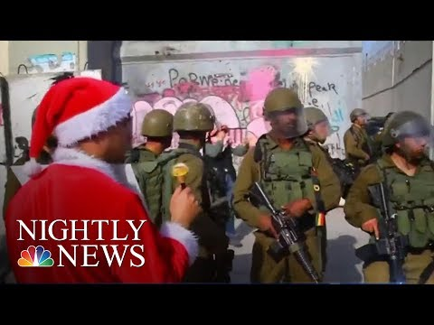 Jerusalem Clashes Puts Damper on Christmas in Bethlehem | NBC Nightly News