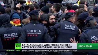 Clashes in Catalonian after holy relics seized by Spanish govt