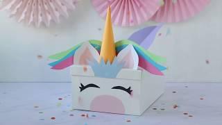 Unicorn Valentine's Card Box Idea