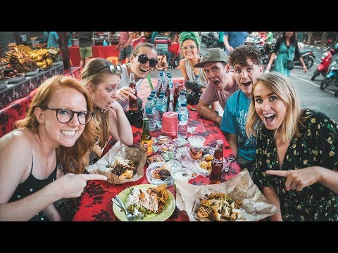 Indonesian STREET FOOD TOUR! - Feat. Flying The Nest, Kinging It And The Way Away! (Ubud, Bali)