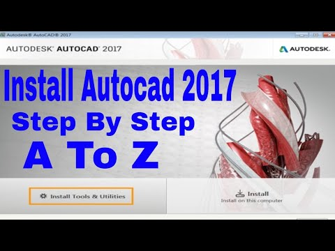 How to install Autocad Autodesk 2017 64/32 bit in Windows 7 8 or 10 | Alone