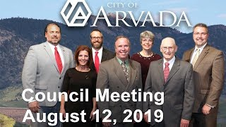 Preview image of City Council Meeting -  August 12, 2019