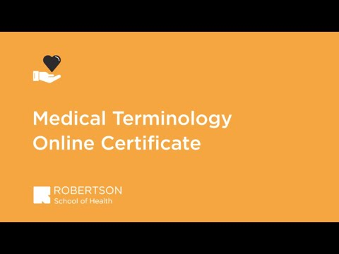 Medical Terminology Program Overview | Robertson College ...