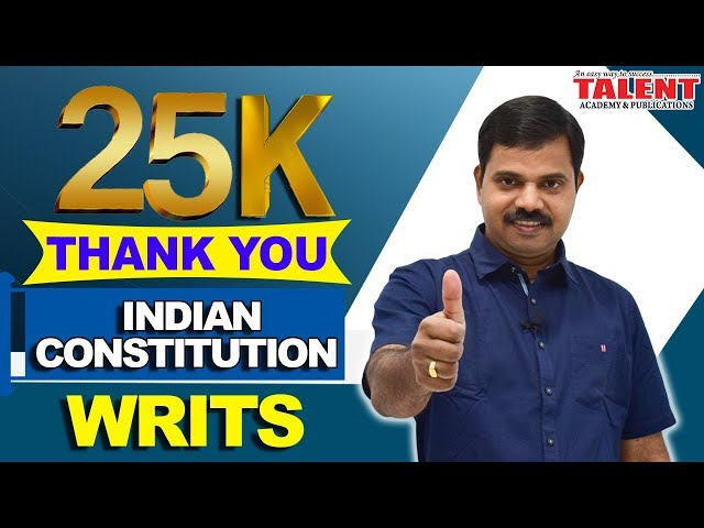 KERALA PSC ASSISTANT GRADE  INDIAN CONSTITUTION-WRITS