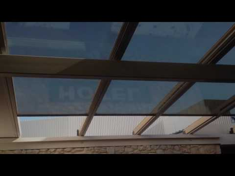 Hotel Sorrento Glass Retractable Roof by Libart