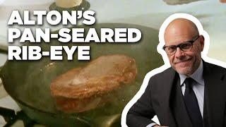Alton Browns 5-Star Pan-Seared Rib-Eye | Food Network