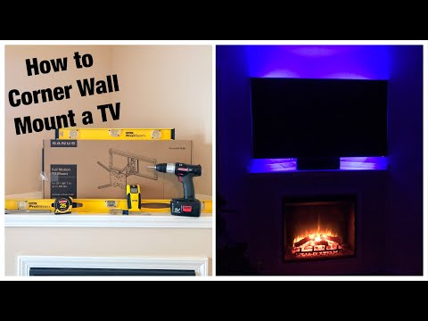Sanus OLF18 Full-Motion TV Wall Mount Installation & Review! – How to Corner Wall Mount a TV