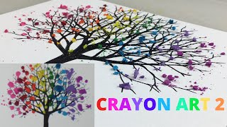 Super Satisfying Melting Crayon Art -1 Minute Clip- Canvas Art Ideas