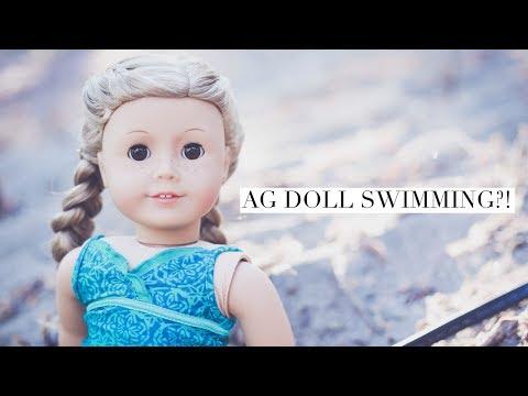American Girl Doll Goes Swimming?!