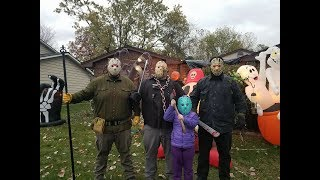 Friday The 13th Halloween Outdoor Decoration Setup 2017