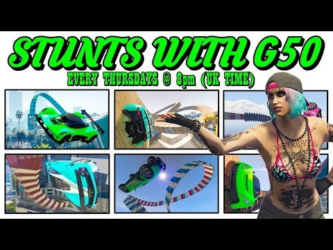 LIVE - STUNTS with G50 - COME JOIN US (GTA 5 ONLINE PS4)