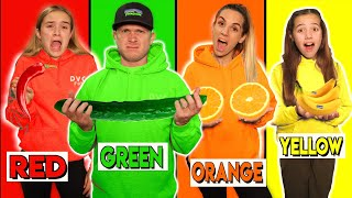 EATING ONLY ONE COLORED FOOD FOR 24 HOURS!!