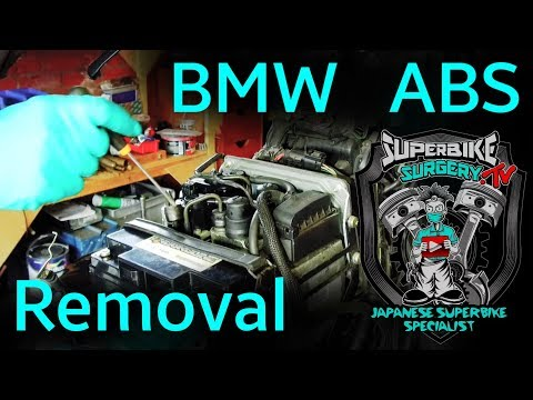 Complete guide to BMW Motorcycle integral ABS Removal, R1150/850 etc. (Time Stamps in Description)