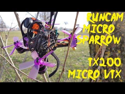 runcam-tx200-micro-vtx--runcam-micro-sparrow--eachine-lizard95--sunny-raw-dvr-flight-footage