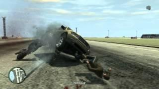 Физика удара. Мотоцикл vs Автомобиль. Slow motion
