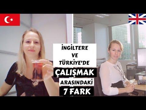 İngiltere ve Turkiye'de Çalışmak Arasındaki 7 Fark