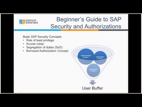 SAP Security - Basic Concepts - YouTube