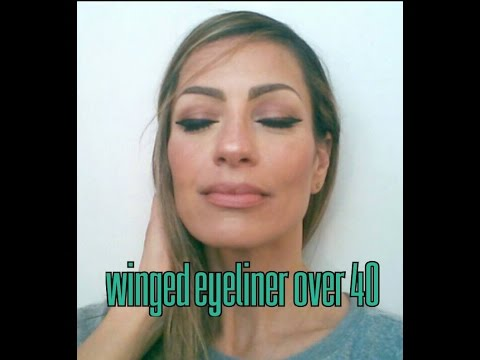 Winged Eye Liner/cat Eye For Mature Skin (MAKEUP OVER 40 Over 50)