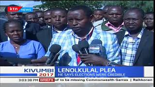 Samburu governor,  Lenolkulal calls upon opposition leader, Raila Odinga to concede defeat