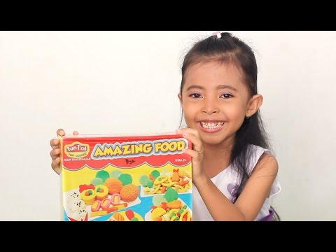Mainan Anak Lilin Warna Warni - Amazing Food Fun Doh-kids Toys Review Unboxing