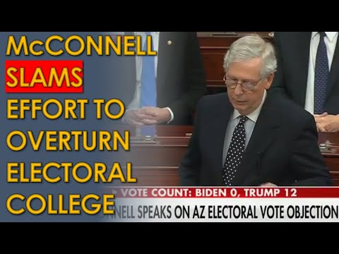 Mitch McConnell Speech SLAMS Trump Effort to Overturn Electoral College Vote