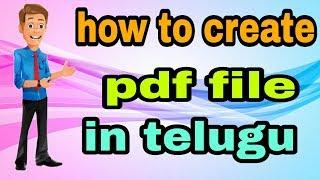 #pdf How to create pdf file in telugu|| pdf app || in telugu by rakesh