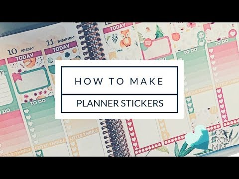 How To Make Planner Stickers   lovefrommim.com