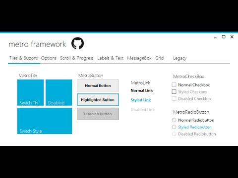 How To Use Winforms Modern UI Metro Framework