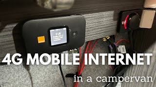 Installing a Mobile 4G WiFi router and external antenna in a Campervan / RV - Poynting Puck 2