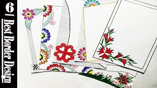 Arts Craft 6 Beautiful Border Design Video 183 Arts And