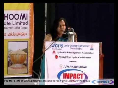 Life Story|Jyothi Reddy|TELUGU IMPACT Hyd 2012