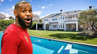 LeBron James's Incredible House in Los Angeles (Inside & Interior & Exterior)   2018 NEW HD