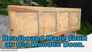 Headboard Made From An Old Wooden Door