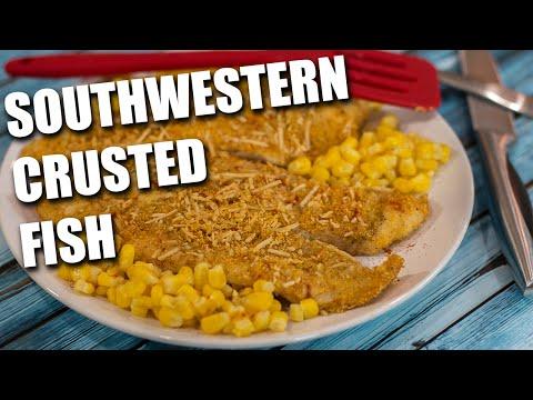 QUICK Southwestern Crusted Fish Recipe