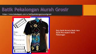 Baju Koko Batik pria Hem Koko Kemeja Batik baju muslim  batik pekalongan warna coklat kalem