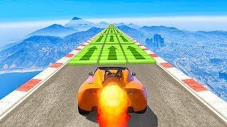 MAX SPEED ROCKET CAR SKILL TEST! - GTA V Online