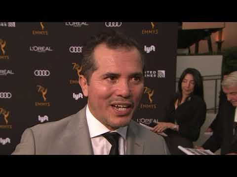 At a pre-Primetime Emmy event, nominees John Leguizamo, Ed Harris and Ann Dowd discuss why Hollywood stars should use awards shows as a platform to speak out about political issues. (Sept. 17)