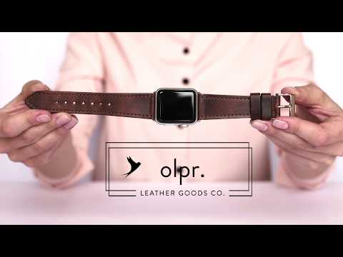 Chestnut Horween Leather Apple Watch Band | Handmade by olpr.